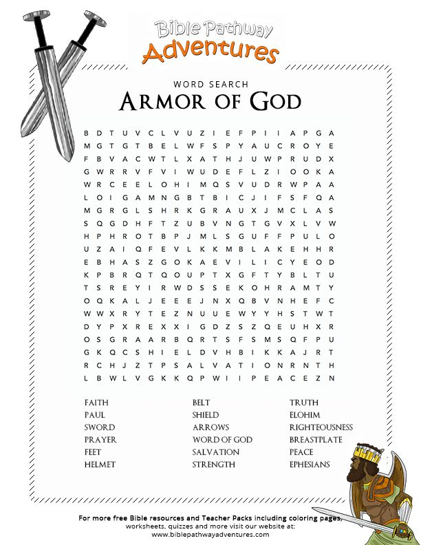 Bible Word Search: Armor of God | Free Download