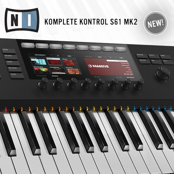 Komplete Kontrol S61 MK2 advanced MIDI keyboard features more octaves and is suitable for those who are used to playing on bigger size keyboards, yet still, require a midi controller for deep integration with Komplete Software.