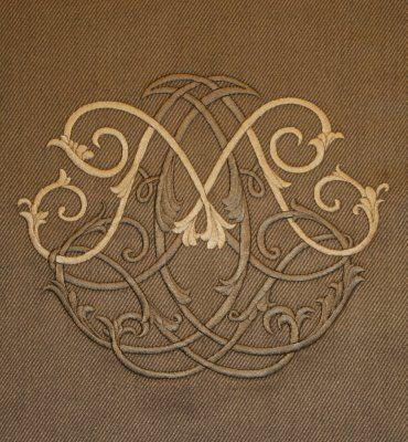 Villa Savoia, Inc.: Custom Embroidered M Monogram for Chair Backs