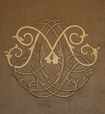 Beautiful~Do Recessed Embellishment Same Color As Fabric And Initial A Lighter Shade.