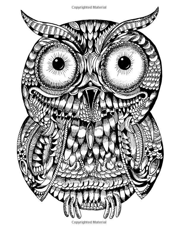 coloriage adult coloringcoloring pagesowlsmandalascoloring - Animal Mandala Coloring Pages Owl
