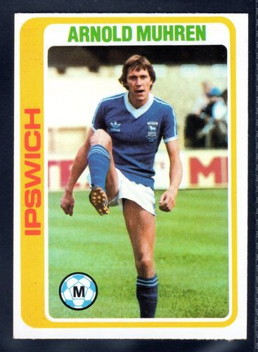 TOPPS FOOTBALLERS-PALE BLUE-1979-ARNOLD MUHREN, IPSWICH TOWN No.99