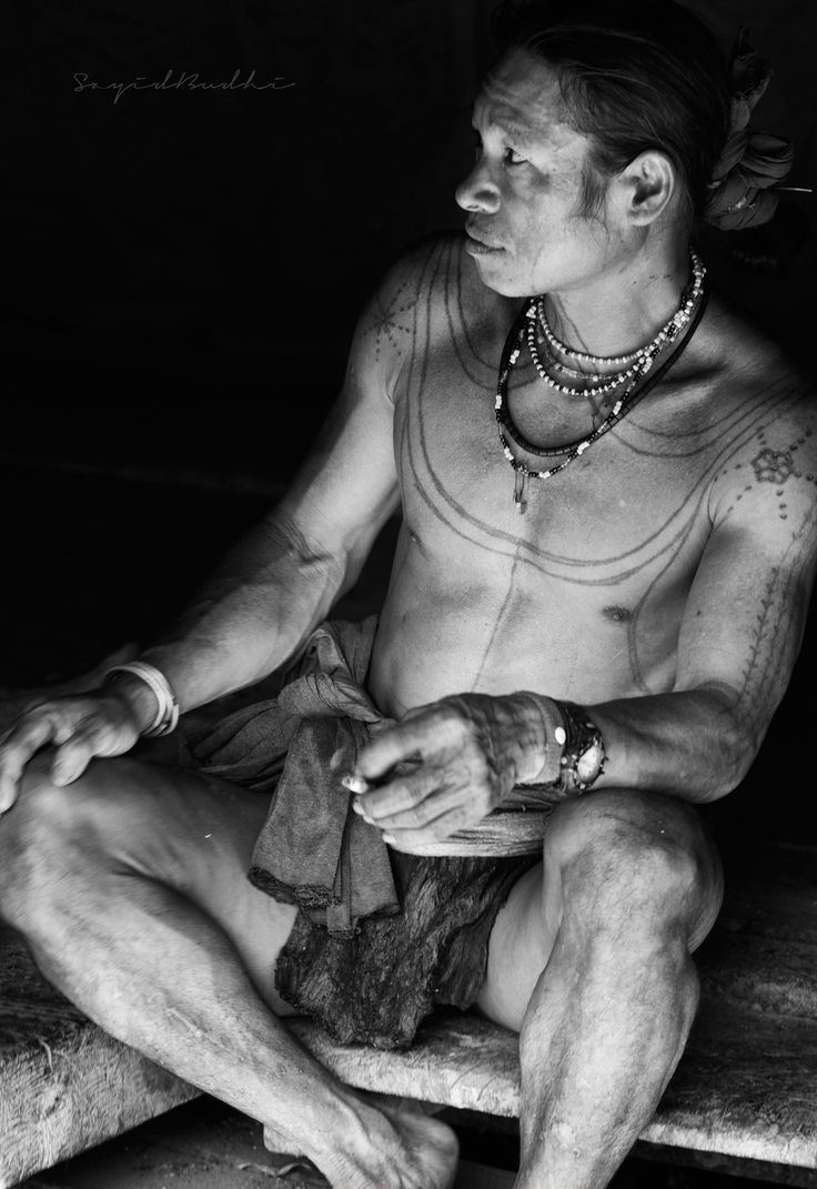 Amata Gougou, A man of Mentawai tribe