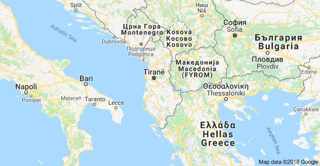 Kohteen Albania Kartta