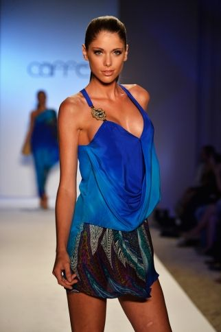 CAFFE SWIMWEAR Peacock Blue Silk Dress. SHOP AT www.rosatocollections.com www.facebook.com/rosatocollectionsonline