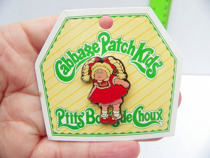 Cute Vintage 1983 Cabbage Patch Kids Enamel Pin , Mint Cabbage Patch Lapel Pin , Cabbage Patch Doll Brooch , Children's Jewelry , 1980's Toy by ShersBears on Etsy