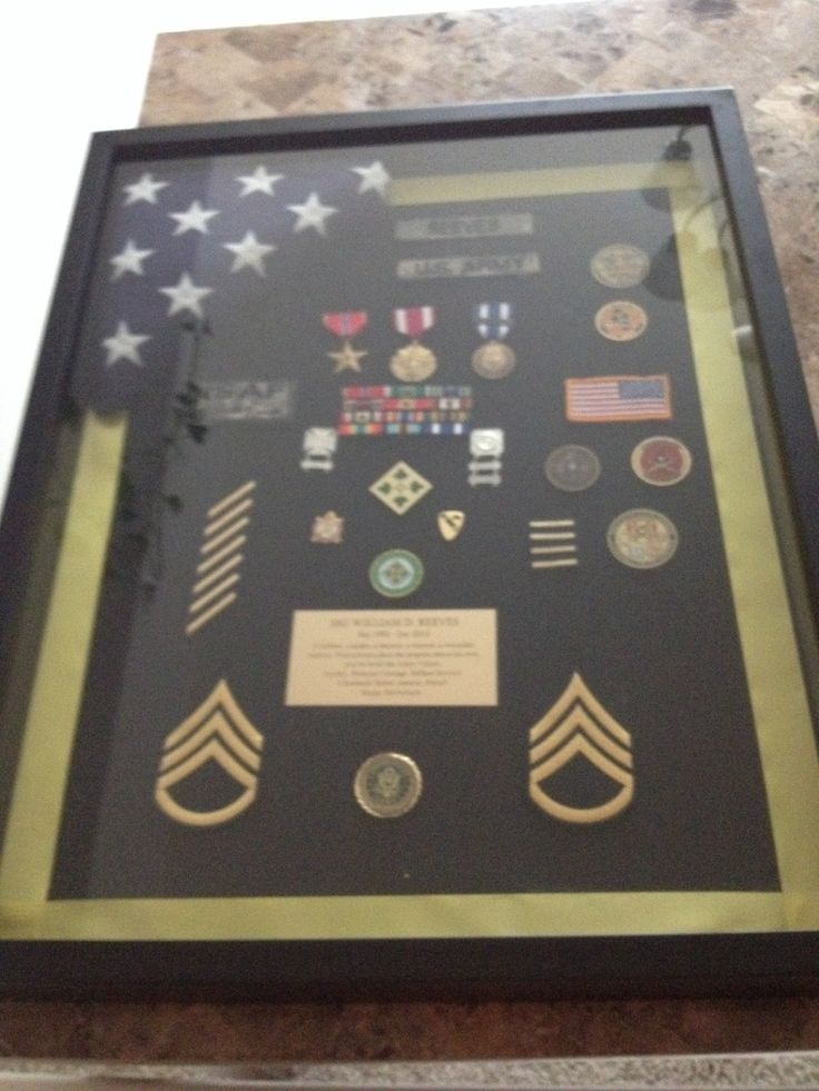 Military Uniform Shadow Box Ideas The