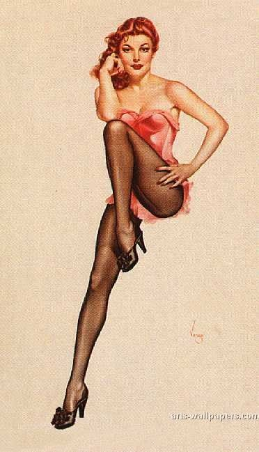 40s pin up | Pin-Up Art Print Buy a Poster