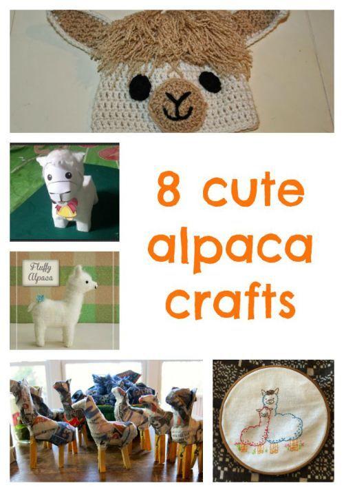 8 cute alpaca crafts. I like the ornament idea the best for llama camps!