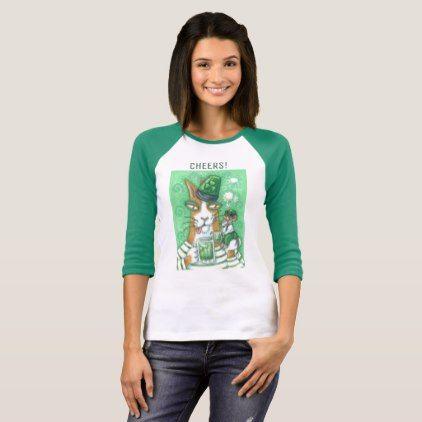 "Hiss N Fitz Cat ST. PADDY""S DAY 3/4 SLEEVE T SHIRT - st. patricks day gifts irish ireland green fun party diy custom holiday"
