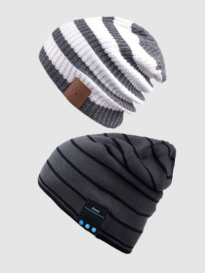 Washable Winter Mens Womens Hat Bluetooth Beanie Running Cap w Wireless  Stereo Headphones Mic Hands f46ac7a6566