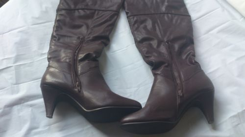 South Ladies Brown Knee High Long Boots