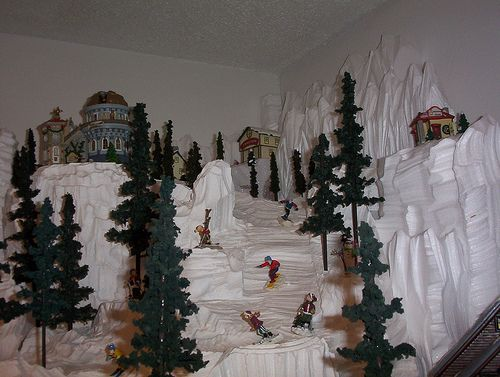 Styrofoam Village Displays | On Our Way To Crazy » The Christmas Village of Awesome.