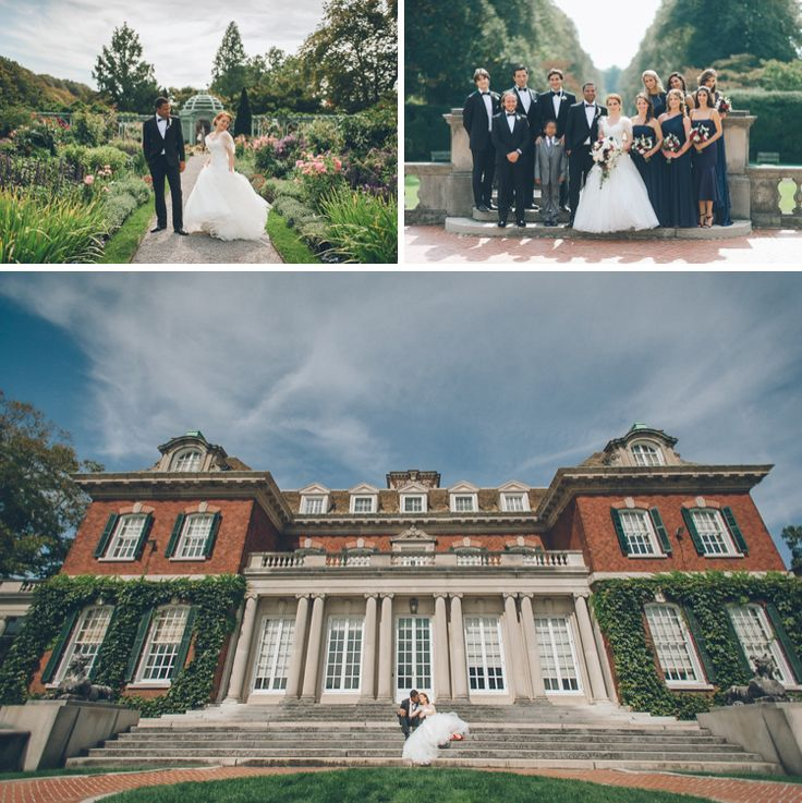 Wedding photos at Old Westbury Gardens. Captured by NYC wedding photographer Ben Lau.
