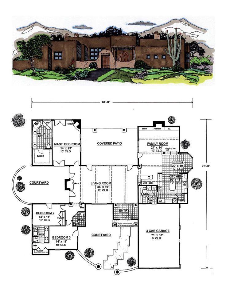 17 best images about santa fe house plans on pinterest for Santa fe floor plans