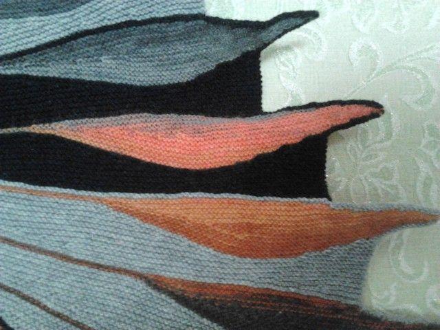 Две шали укороченными рядами