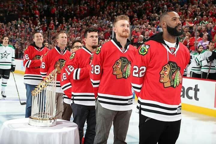 World Series Champs Chicago Cubs honored at Blackhawks Game 11-6-16.