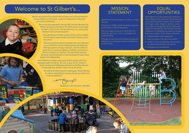 St Gilberts School brochure by Rebecca Perry design+illustration ...