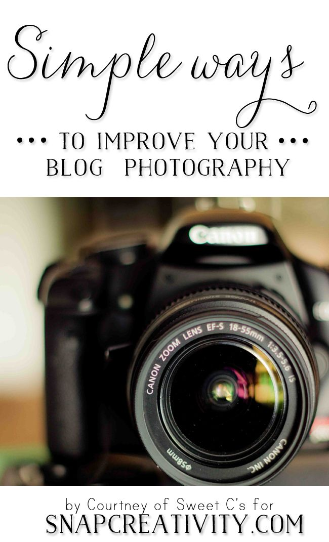 Simple ways to improve your blog photograhpy at SNAP! - this is awesome and full of tips for photographers of any level!
