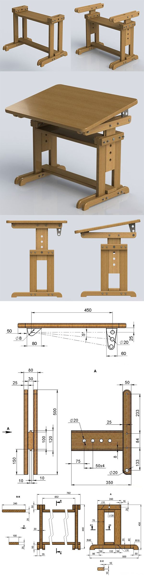 Drafting table dimensions - Nice Little Drafting Table Customizable