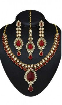 Maroon Color American Diamond Work Artificial Jewellery Necklaces Set   FH500676600 Follow us @heenastyle  #Necklace #onlineshopping #necklaceset #forsale #gold #artificial #goldplated #designs #fashion #jewelry #fashionjewellry #accessories #womenfashion #pendentset #earing #jumkis #bangle #bracelets #mangalsutra #tikka #headpieces #handbags #cluethesbeg #ring #indianfashion #fashionista #anklets #bridelset #weddingset #dimondset #brass #metal #heenastylenecless #heenastyle