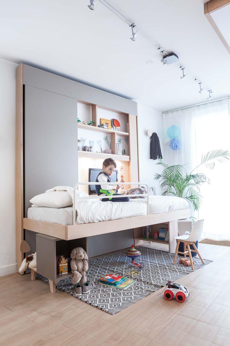 #litescamotable #chambreenfant #rangement #enfant #chambre #children #bedroom @Bedup