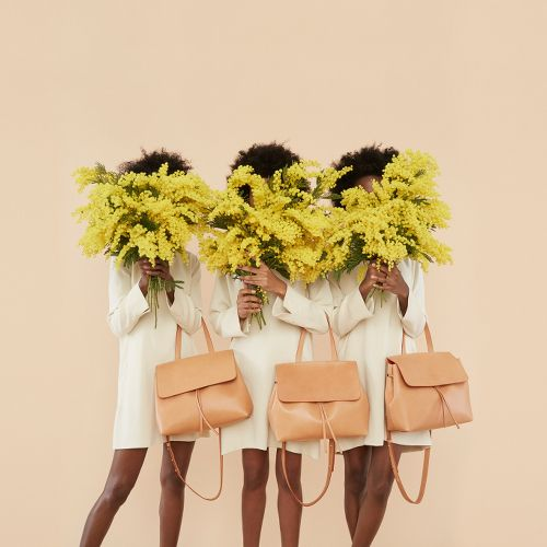 Mansur Gavriel Bucket Bags:  Ads. Mansur Gavriel's Fall 2015 Campaign Features Chic Handbags and Natural Hair. | SUPER.SELECTED