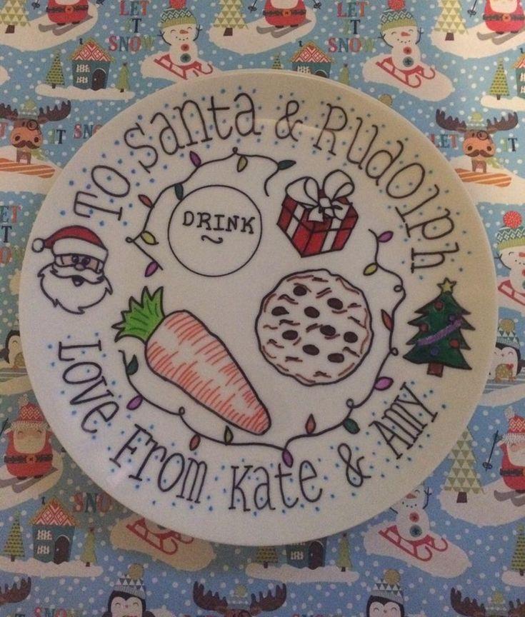 Handmade Christmas Eve Plate - Christmas Gift   | eBay