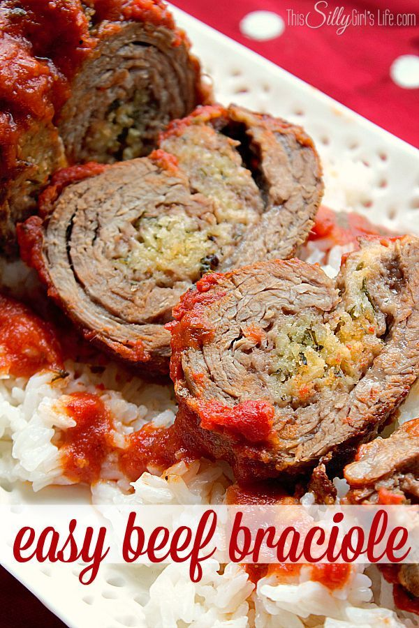 Easy Beef Braciole Recipe - This Silly Girl's Life