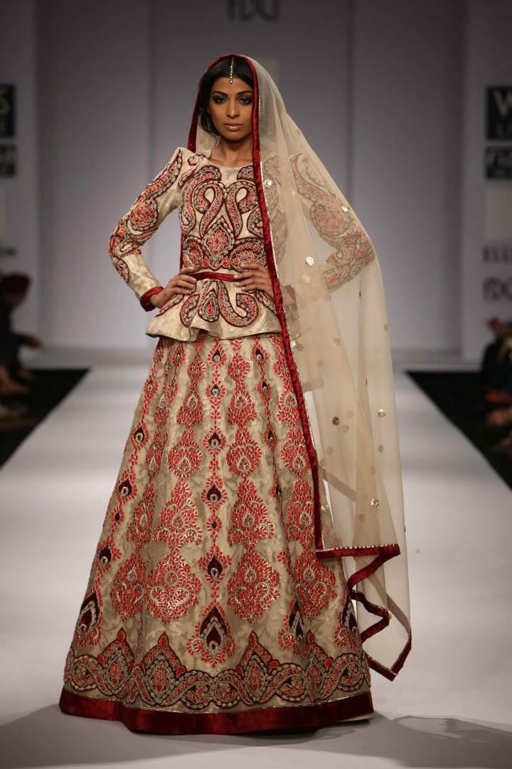 Peplum on an indian outfit. love. - Vineet Bahl WLFW SS2013