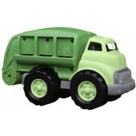 Green Toys, VuilniswagenMet deze groene vuilniswagen leert je kleintje direct wat recyclen is! Sorteren flessen, blikjes en papier en haal vuilniszakken op die allemaal via de beweegbare laadklep in de auto geplaatst kunnen worden. #greentoys #vuilniswagen #speelgoed #jongensspeelgoed #jongen #engeltjesendraken