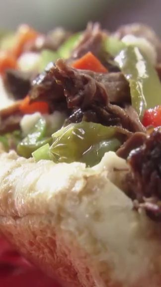Jeff uses giardiniera in his Italian Beef Sandwich to add a satisfying spicy crunch.