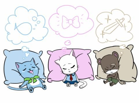 Awww exceed team sleep - Happy, Charle and Phanterlily