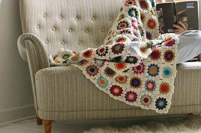 Как связать одеяло из остатков пряжи