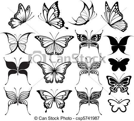siluetas de mariposas - Buscar con Google