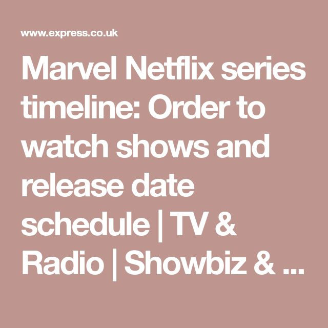 Marvel Netflix series timeline: Order to watch shows and release date schedule | TV & Radio | Showbiz & TV | Express.co.uk