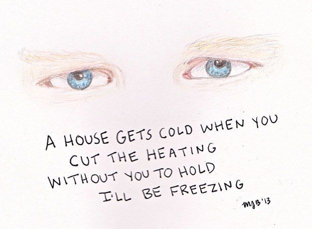 Ed's beautiful blue eyes. | 21 Pieces Of Ed Sheeran Fan Art That Are Actually Amazing