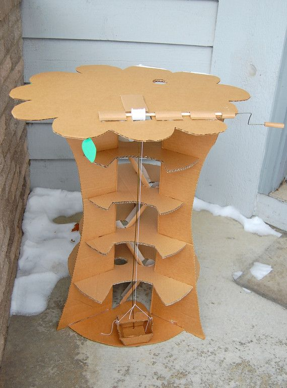how to build a treehouse out of cardboard
