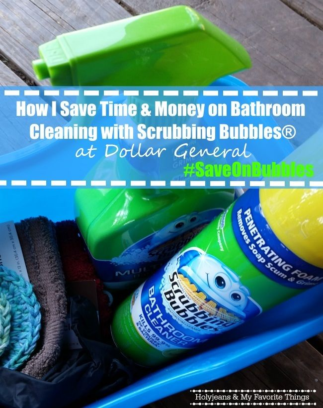 Saving Time and Money on Bathroom Cleaning with Scrubbing Bubbles® and DG #saveonbubbles