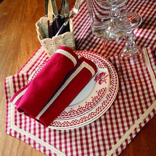 Authentic French tableware   Comptoir de Famille Damier Rouge www.originated-shop.nl