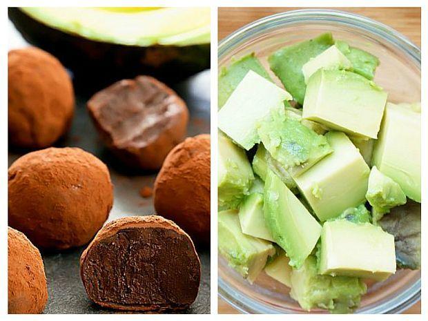 Aceste trufe par a fi desertul ideal pentru cei care vor să adopte o dietă sănătoasă. Se prepară din 3 ingrediente. Avocado înlocuiește cu succes frișca grasă bătută. Poate fi folosit la numeroase deserturi de casă raw-vegane, datorită texturii sale untoase și cremoase.Este