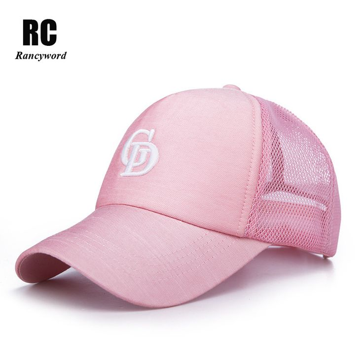 [Rancyword] Branded Summer Mesh Baseball Caps Women 2017 Embroidery Letter Sun Hats Lady Snapback cap Visor Hip Hop RC1120 #Affiliate
