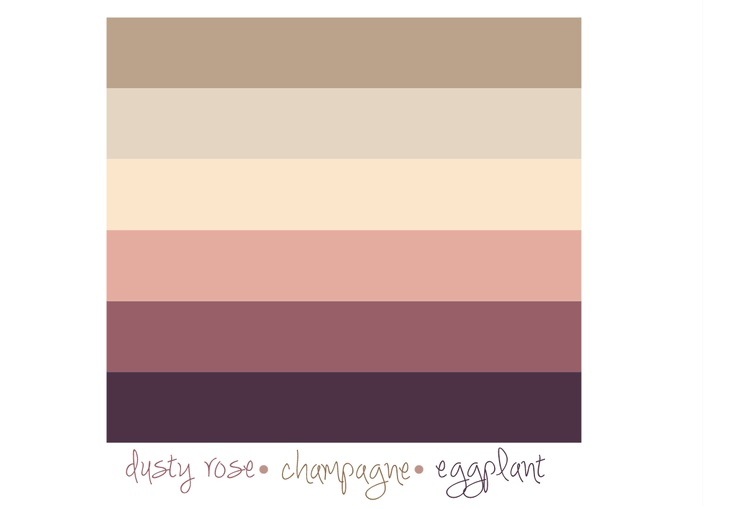 Color palette dusty rose champagne eggplant spring Colors that go with rose pink
