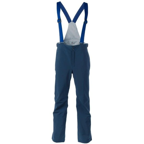 Rossignol \'Gravity\' Dungaree Ski Trousers ($474) ❤ liked on Polyvore featuring men's fashion, men's clothing, men's pants, men's casual pants, mens blue ski pants, mens ski pants and mens blue pants