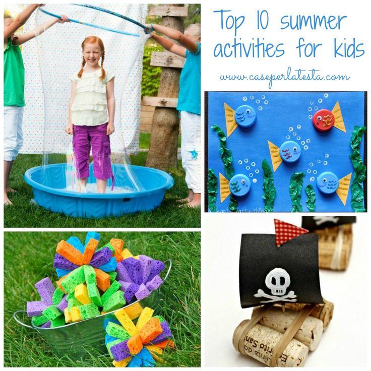 10 attività estive facili da fare con i bimbi * 10 easy summer activities for kids