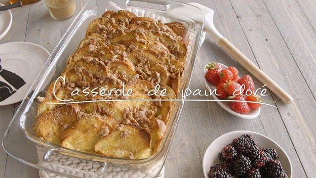 Casserole de pain doré | Cuisine futée, parents pressés