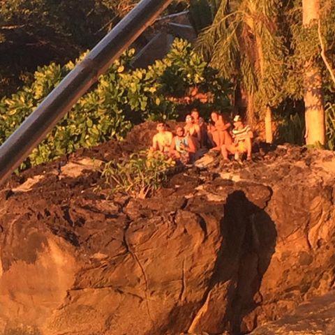 Volunteers enjoying another sunset on Sunset Rock. #madagascarvolunteer