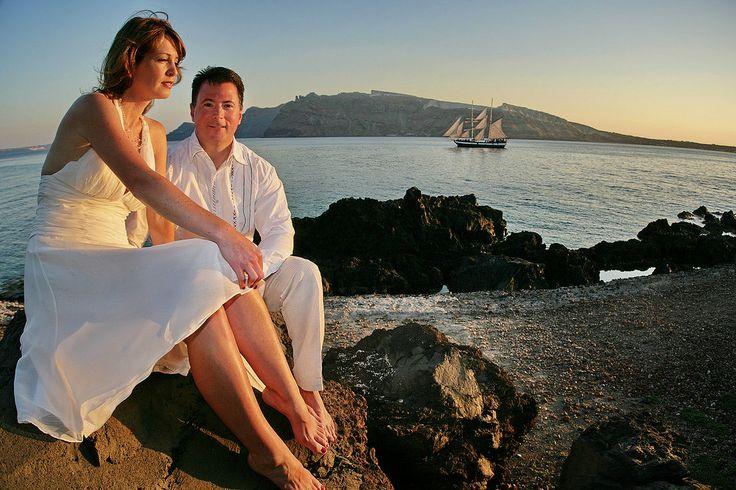 Santorini Wedding #wedding #couples #romance