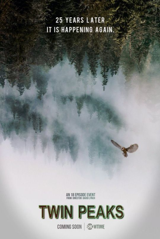 """It is happening again."" Twin Peaks fan poster by Austin Shaddix"