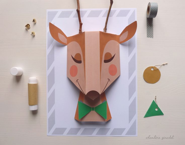 diy-printable-deco-renne-Noel